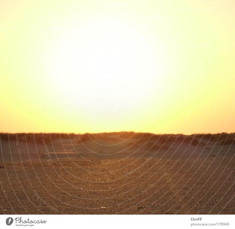 It burns... Ferien & Urlaub & Reisen rot Strand Einsamkeit Landschaft gelb Wärme Gefühle Gras Sand Stimmung gold Zufriedenheit Insel Idylle Schönes Wetter