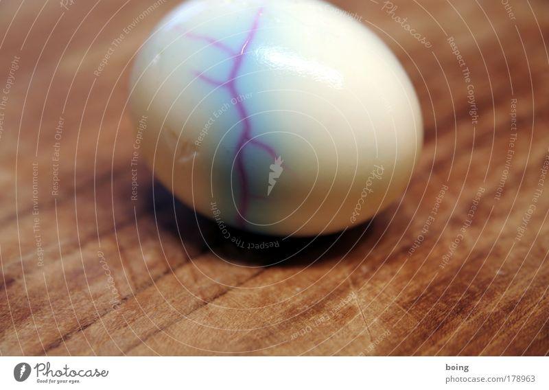 die Rugel-Qualifikation nicht geschafft Ernährung Spielen Farbstoff Lebensmittel Kochen & Garen & Backen Ostern kaputt Häusliches Leben fest Ei Riss Misserfolg
