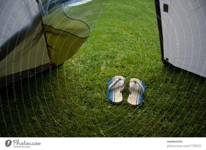 Zelt Sommer Ferien & Urlaub & Reisen Gras Schuhe laufen Bekleidung Rasen Tourismus Reisefotografie Sportrasen Eingang Camping Wetterschutz Schutz Teppich Ausgang