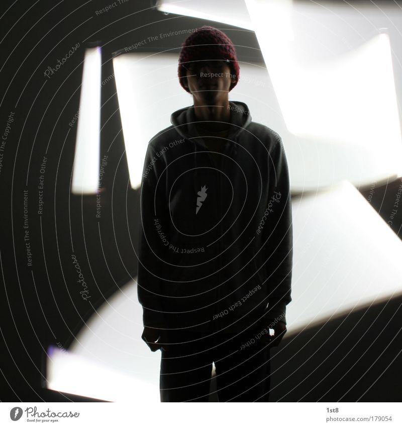 japenese man Mensch Mann Jugendliche weiß schwarz Erwachsene Erholung Leben dunkel Graffiti warten maskulin modern Schriftzeichen leuchten Show
