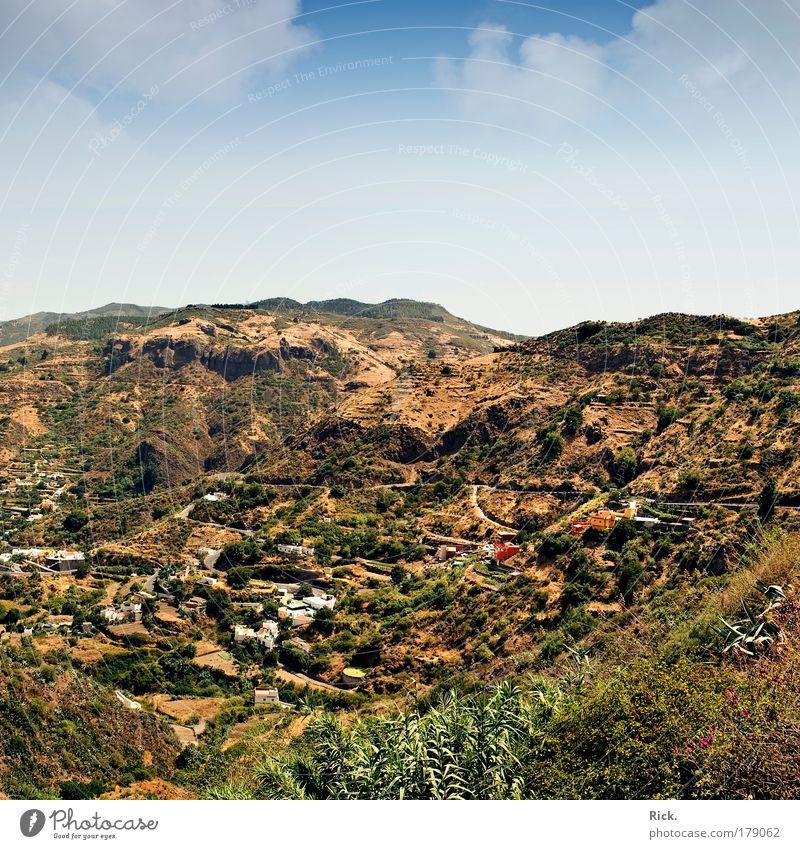 .Gran Canaria 2009 - Mittendrin Natur Himmel Baum Sommer Ferien & Urlaub & Reisen ruhig Haus Erholung Berge u. Gebirge Freiheit Wege & Pfade Wärme Landschaft Umwelt groß Horizont