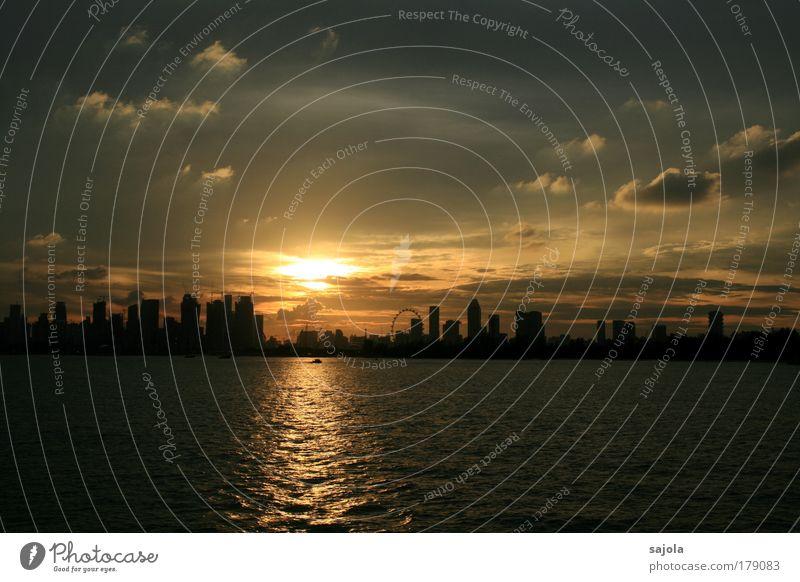 goodbye singapore Umwelt Natur Landschaft Wasser Himmel Wolken Meer Insel Singapore Asien Südostasien Stadt Hauptstadt Hafenstadt Stadtzentrum Skyline