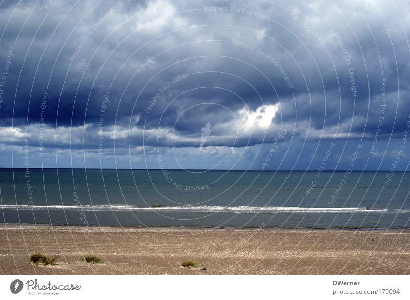 Himmel in der Jammerbucht Natur Wasser Strand Meer Wolken ruhig Stil Sand Regen Wellen Wind bedrohlich Unendlichkeit Sturm Unwetter