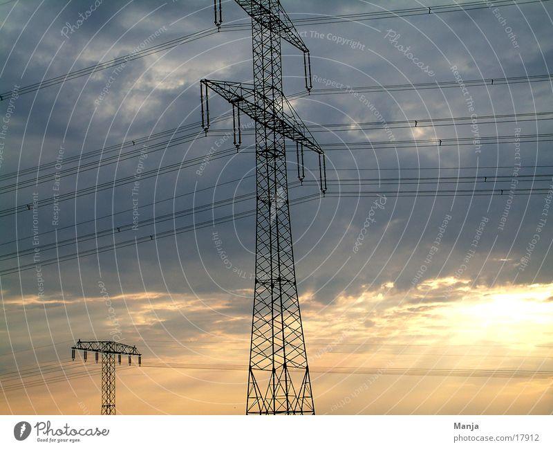 Energie Himmel Industrie Energiewirtschaft Elektrizität