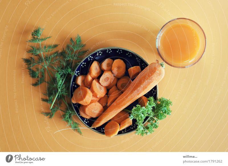 *schnurps* Gesunde Ernährung orange Gemüse Bioprodukte Teller Vegetarische Ernährung Möhre Petersilie Rohkost Dill