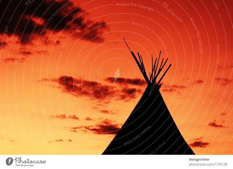 Indian Summer Farbfoto Menschenleer Textfreiraum links Textfreiraum oben Abend Dämmerung Sonnenaufgang Sonnenuntergang Gegenlicht Ferien & Urlaub & Reisen