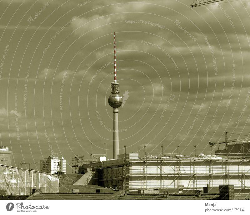Berlin Baustelle Gebäude Architektur Berliner Fernsehturm