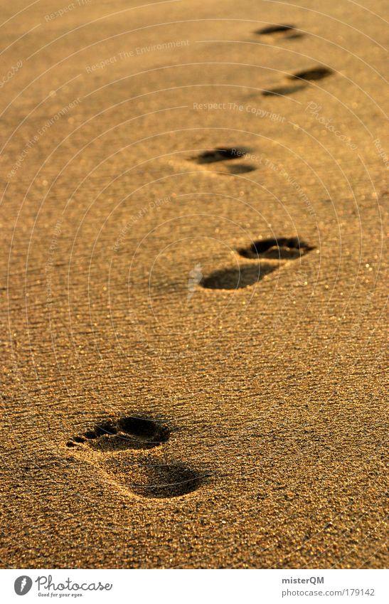 eternity. Meer Erholung Strand Leben Wege & Pfade Gesundheit Zeit Freiheit Fuß Sand Zufriedenheit Idylle ästhetisch Zukunft Vergänglichkeit Zeichen