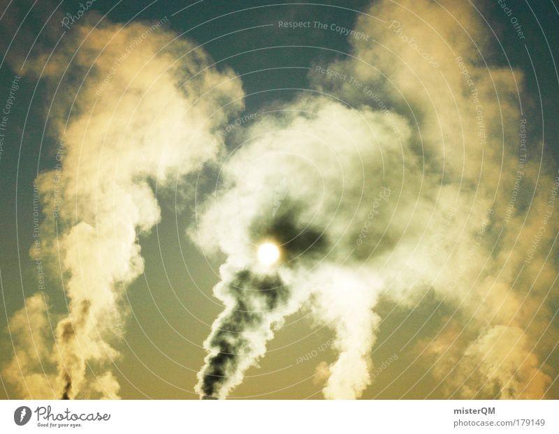 Monday Morning. Himmel Winter dunkel kalt Umwelt Wärme Umweltverschmutzung Horizont dreckig Armut Industrie Emission Idylle Zeichen Rauch Stress