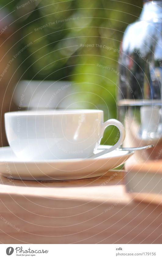 Zeit für... Natur Sommer Erholung ruhig Herbst Lebensmittel Zufriedenheit Freizeit & Hobby Tisch genießen Schönes Wetter Getränk Wellness Wohlgefühl Geschirr