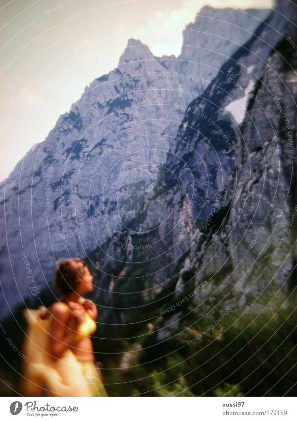 Fly bye Berge u. Gebirge Klettern Alpen Sehnsucht Gipfel aufsteigen Rucksack