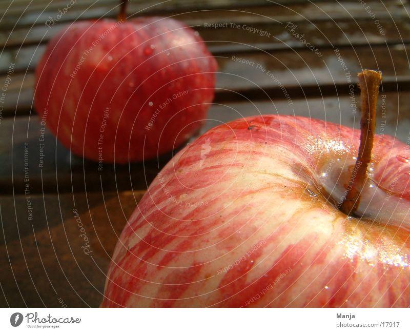Äpfel rot saftig Gesundheit nass Apfel Frucht