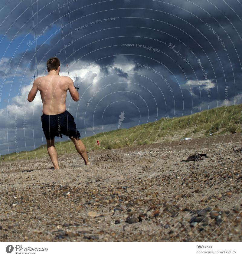 Ewig-Kite Mensch Himmel Natur Jugendliche Meer Strand Wolken Erwachsene Sport Sand Körper Wind fliegen Freizeit & Hobby maskulin 18-30 Jahre