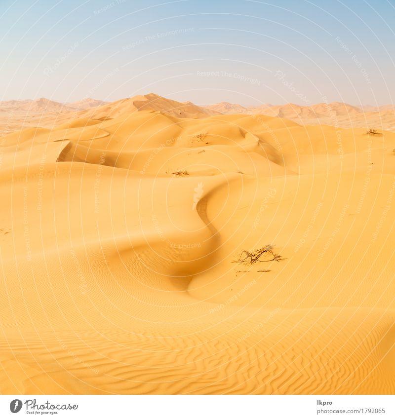 das leere Viertel und im Freien Himmel Natur Ferien & Urlaub & Reisen Sommer schön weiß Sonne Landschaft Einsamkeit schwarz gelb grau Sand Tourismus wild