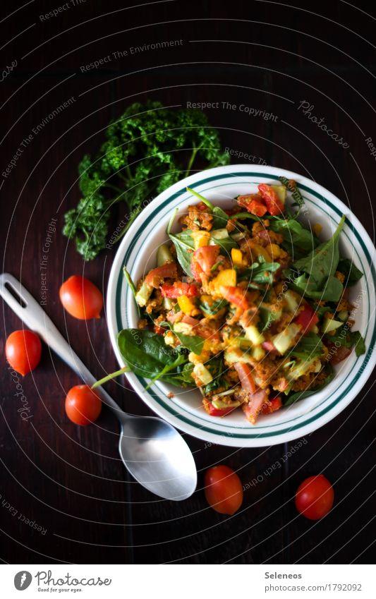 Feldsalat Gesundheit Lebensmittel Ernährung frisch Kräuter & Gewürze Gemüse Bioprodukte Schalen & Schüsseln Vegetarische Ernährung Diät Salat Salatbeilage Tomate Löffel Petersilie