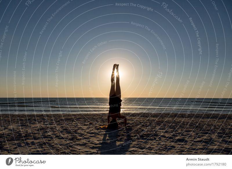 Sonnenstand Lifestyle Stil schön Körper sportlich Wellness Leben harmonisch Erholung Freizeit & Hobby Ferien & Urlaub & Reisen Ferne Sommerurlaub Strand Meer