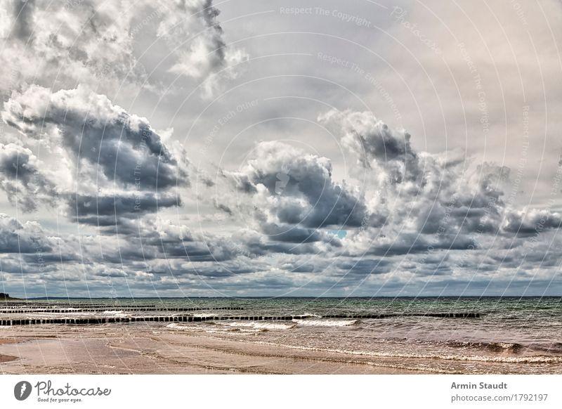 Ostseelandschaft Ferien & Urlaub & Reisen Abenteuer Ferne Freiheit Sommerurlaub Strand Meer Insel Umwelt Natur Landschaft Sand Luft Wasser Wolken Gewitterwolken