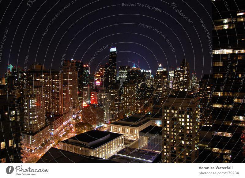schön Stadt ästhetisch authentisch Nacht Skyline Stadtzentrum New York City Hauptstadt gigantisch USA bevölkert