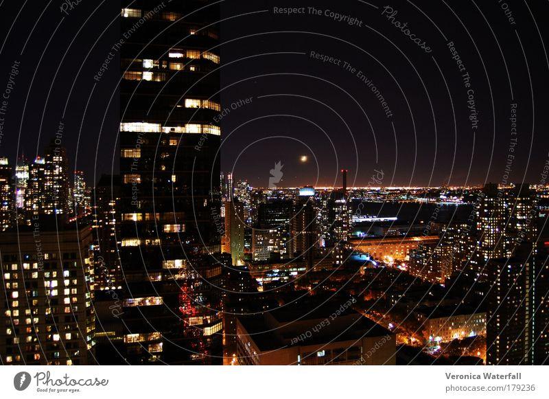 Stadt New York State elegant Netzwerk Macht Kultur Reichtum Skyline Nacht New York City Hauptstadt USA bevölkert