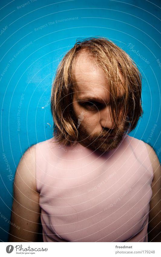geheimrat Mensch Mann Jugendliche Einsamkeit Haare & Frisuren träumen Traurigkeit Erwachsene maskulin ästhetisch Kleid einzigartig Konzentration Bart trashig