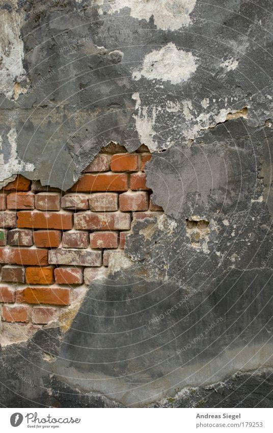 Es bröckelt. Außenaufnahme Detailaufnahme Menschenleer Tag Häusliches Leben Wohnung Haus Hausbau Renovieren Bauwerk Gebäude Architektur Mauer Wand Fassade Putz