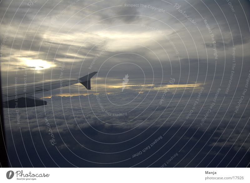 dem Himmel so nah Wolken Flugzeug Luftverkehr