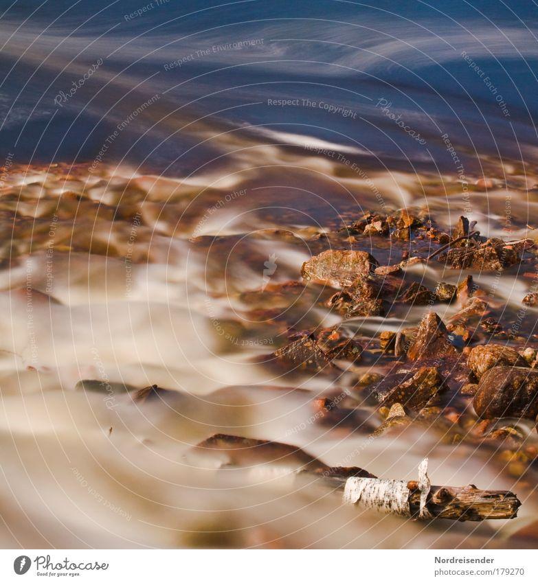 Eine andere Ebene im Universum Natur Wasser schön Sonne Sommer Freiheit Skandinavien Sand Stein träumen abstrakt nass natürlich Fluss Urelemente Romantik