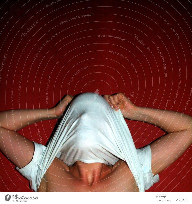 over the falls Mensch Erwachsene Spielen Stil authentisch Coolness T-Shirt festhalten dünn verstecken trashig frech blind anziehen entkleiden verwandeln