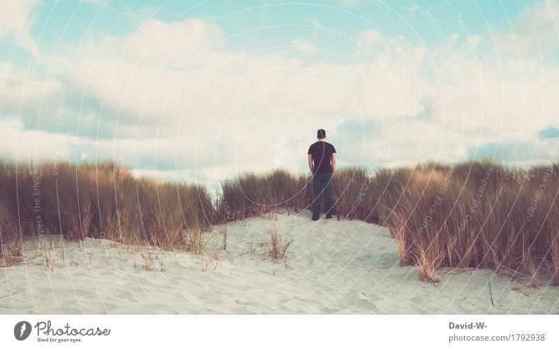 Erholung pur Mensch Ferien & Urlaub & Reisen Jugendliche Mann Junger Mann ruhig Ferne 18-30 Jahre Erwachsene Leben Gesundheit Glück Freiheit Gesundheitswesen