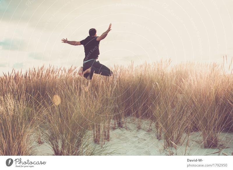 fast zu schön um... Mensch Natur Ferien & Urlaub & Reisen Jugendliche Mann Sommer Wasser Sonne Junger Mann Landschaft Erholung ruhig Ferne Strand Erwachsene