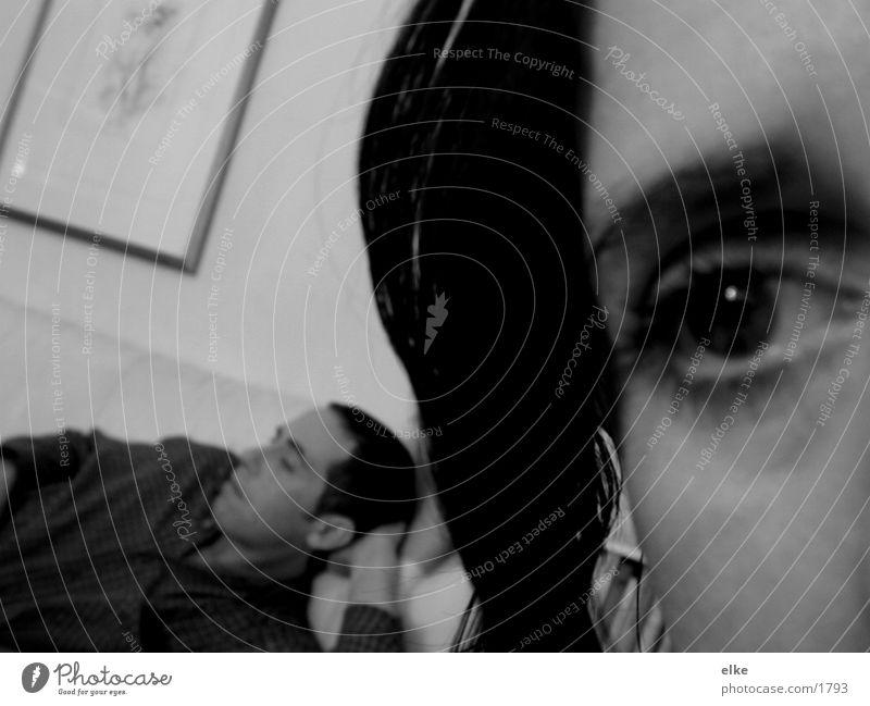 ichbeobachtedich Mann Frau Mensch mesnche Gesicht Schwarzweißfoto
