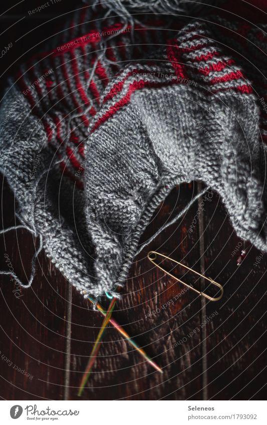 Stricknachmittage Erholung kalt Wärme Freizeit & Hobby Kreativität weich Leidenschaft Tradition kuschlig Wolle Handarbeit stricken Sicherheitsnadeln Stricknadel