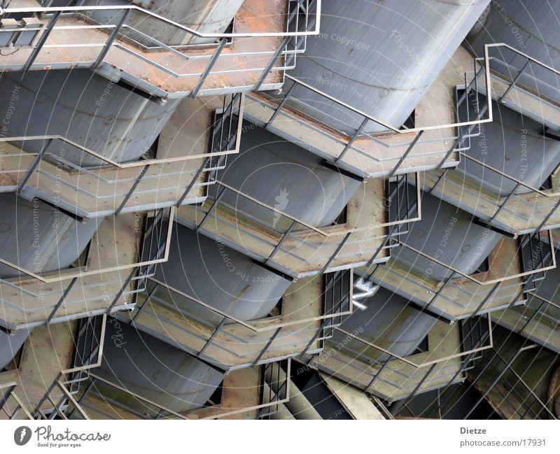 wabenstruktur Silo Eisen Industrie Detailaufnahme