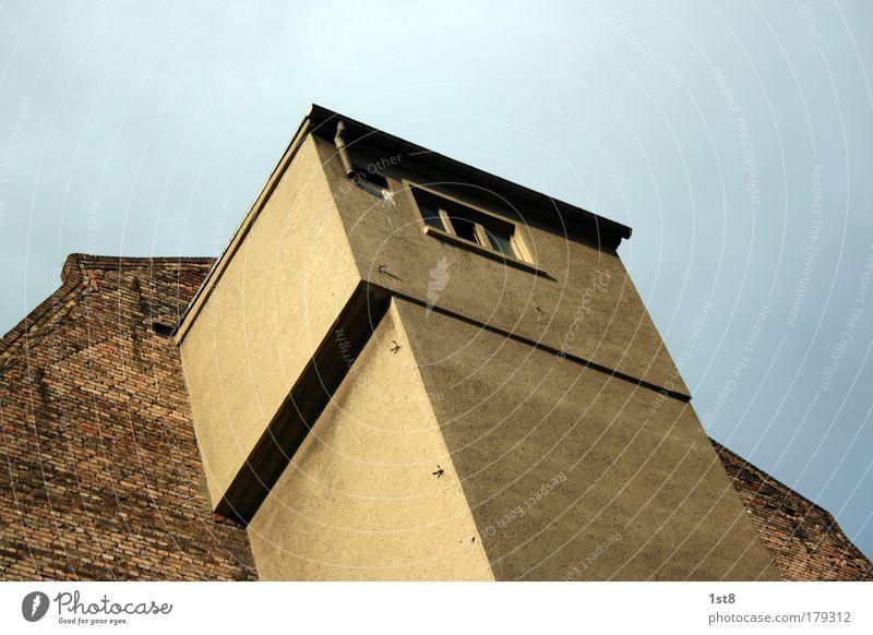 der aufzug alt blau gelb Wand Architektur grau Gebäude Mauer braun dreckig verrückt kaputt außergewöhnlich neu Industrie