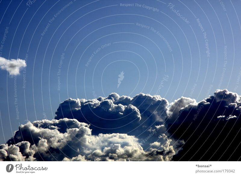 bewölkt Natur Himmel weiß blau Sommer Wolken dunkel oben Kraft Wetter Umwelt groß Energie hoch bedrohlich Klima