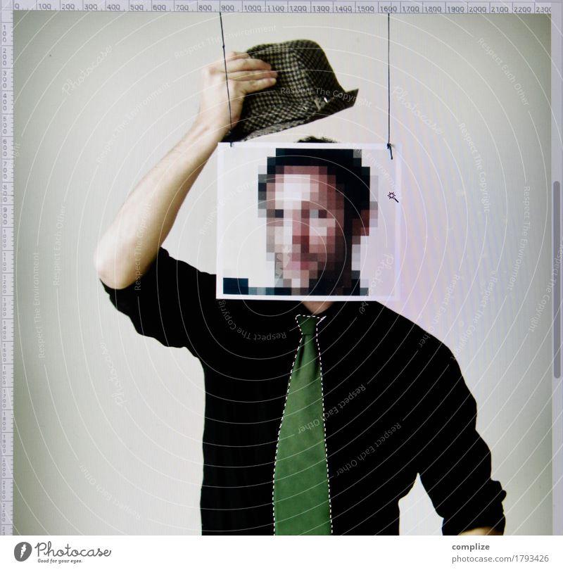 Monsieur Pixel Lifestyle Stil Design Basteln Studium Büroarbeit Arbeitsplatz Medienbranche Werbebranche Business Karriere Sitzung sprechen Computer Notebook