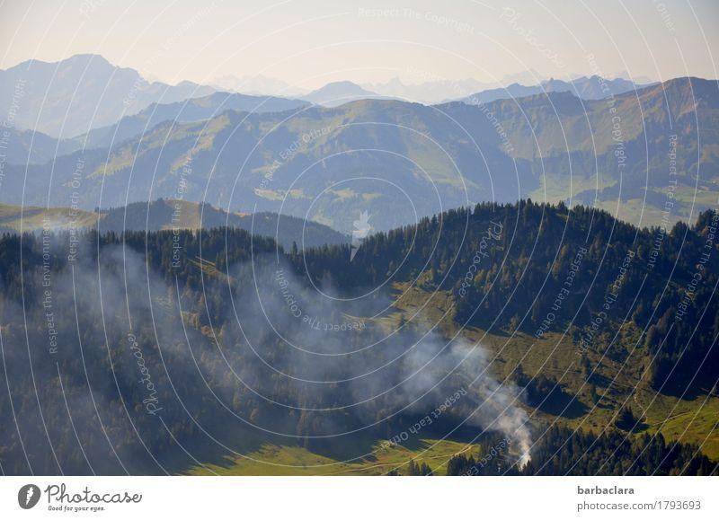 peinlich l oh, vergessen den Herd auszuschalten! Natur Landschaft Ferne Wald Berge u. Gebirge Umwelt Horizont Gipfel Urelemente Alpen Rauch Rauchen Sorge