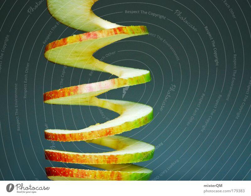 Apfelstrudel. Farbfoto mehrfarbig Innenaufnahme Studioaufnahme Nahaufnahme Detailaufnahme Makroaufnahme Experiment abstrakt Muster Strukturen & Formen