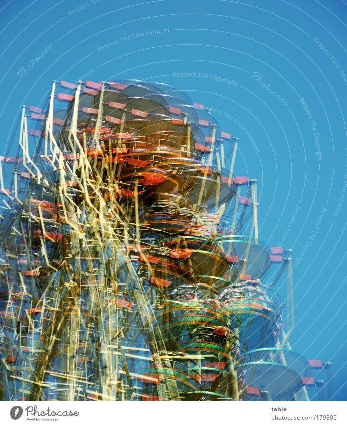 don`t drink . . . Mensch blau Ferien & Urlaub & Reisen Freude Gefühle Metall lustig Feste & Feiern Freizeit & Hobby hoch außergewöhnlich Lifestyle Kunststoff Schönes Wetter genießen drehen