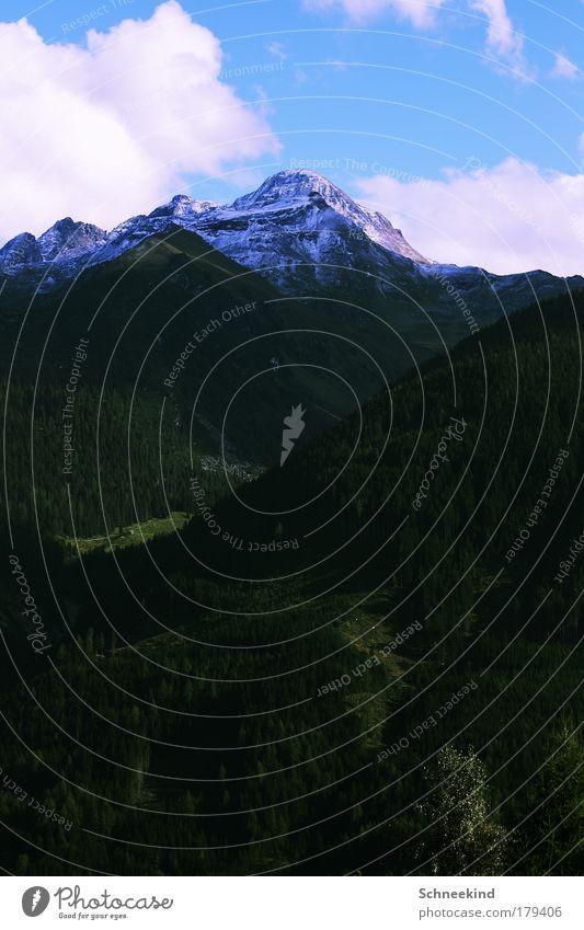Vorfreude auf die kalte Jahreszeit Himmel Natur Ferien & Urlaub & Reisen schön Baum Landschaft Wolken ruhig Ferne Winter Wald Berge u. Gebirge Umwelt Schnee