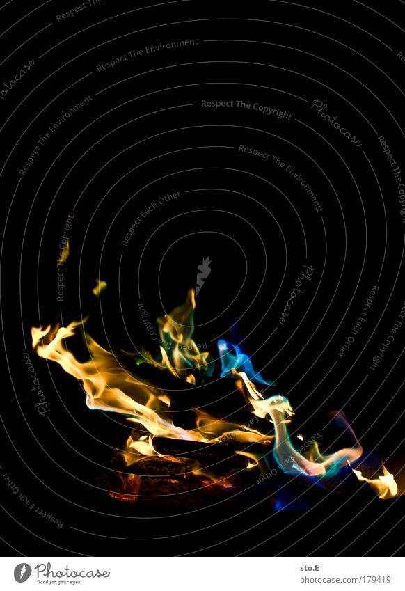 regenbogen blau gelb Farbe dunkel kalt Erholung Wärme Feste & Feiern glänzend Energie Feuer Kommunizieren nah bedrohlich Kitsch Schutz