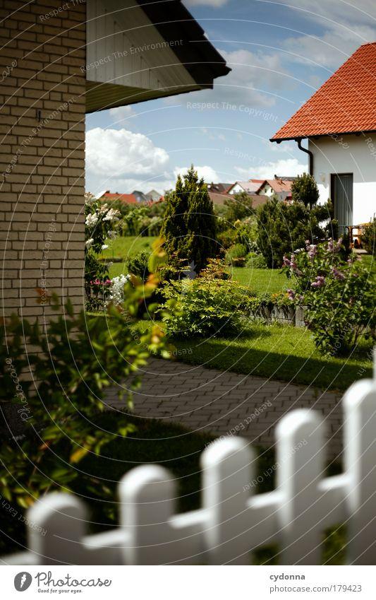Heile Welt schön Pflanze Haus ruhig Landschaft Leben Architektur Garten Traurigkeit träumen ästhetisch Perspektive Häusliches Leben Zukunft Wunsch Kommunizieren