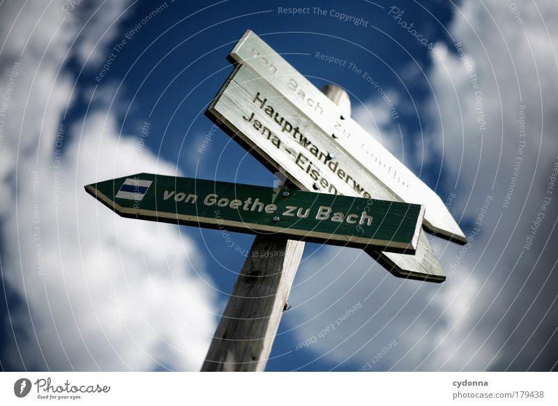 Orientierungshilfe Leipzig Himmel Sachsen Ferien & Urlaub & Reisen Wolken Literatur Ferne Leben Bewegung Freiheit Wege & Pfade wandern Schilder & Markierungen