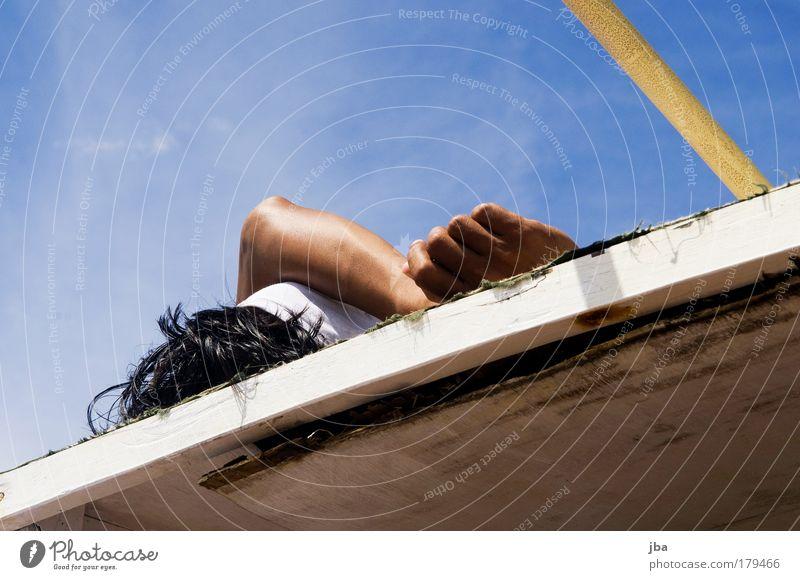 Traumjob? Hand Ferien & Urlaub & Reisen Sonne Meer Erholung Haare & Frisuren Kopf Arme maskulin Insel Tourismus Lifestyle Schönes Wetter Asien Sommerurlaub Arbeitsplatz