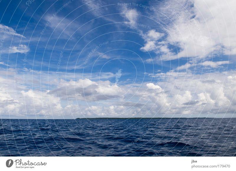 fernab Natur Wasser Himmel Meer blau Sommer Ferien & Urlaub & Reisen Wolken Ferne Erholung Freiheit Erde Wellen Küste Umwelt Horizont