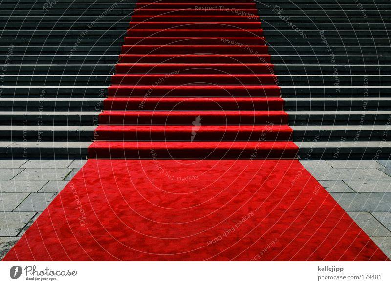 sehen und gesehen werden schön rot Feste & Feiern Business Treppe elegant Lifestyle Erfolg Zukunft einzigartig Show Neugier Geldinstitut Gesellschaft (Soziologie) Reichtum Theater