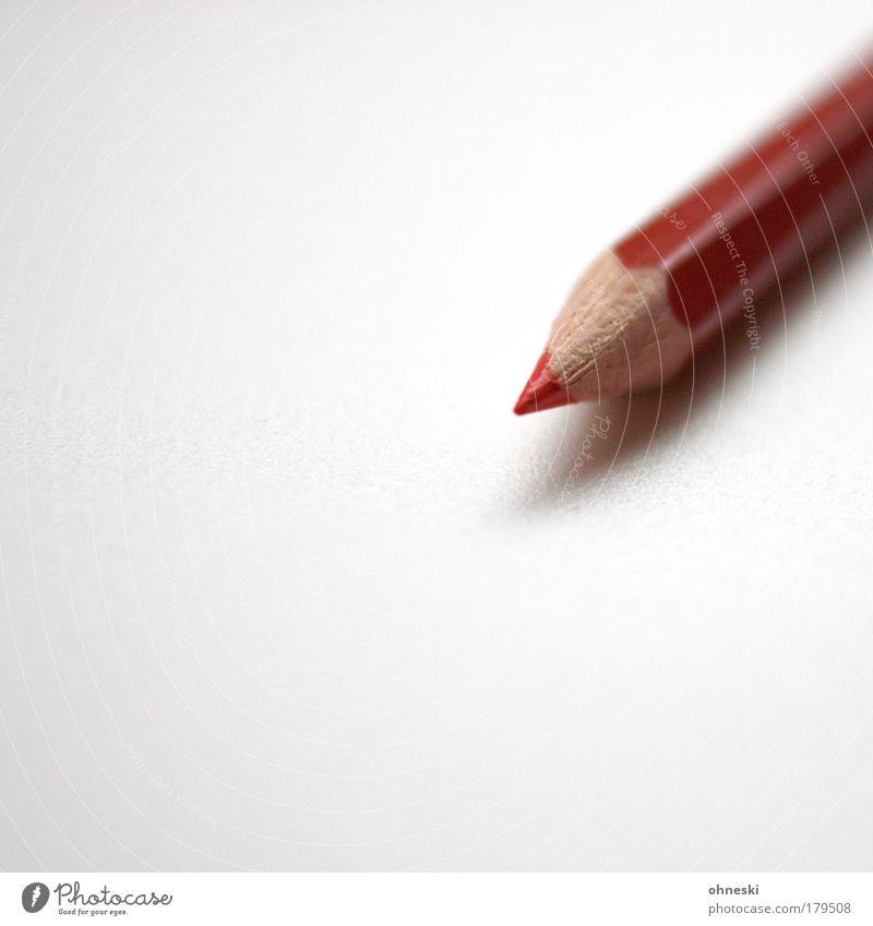 Rotstift rot Spitze malen Bildung schreiben Student Schüler Schreibwaren zeichnen Schreibstift Politik & Staat Lehrer Farbstift korrigieren