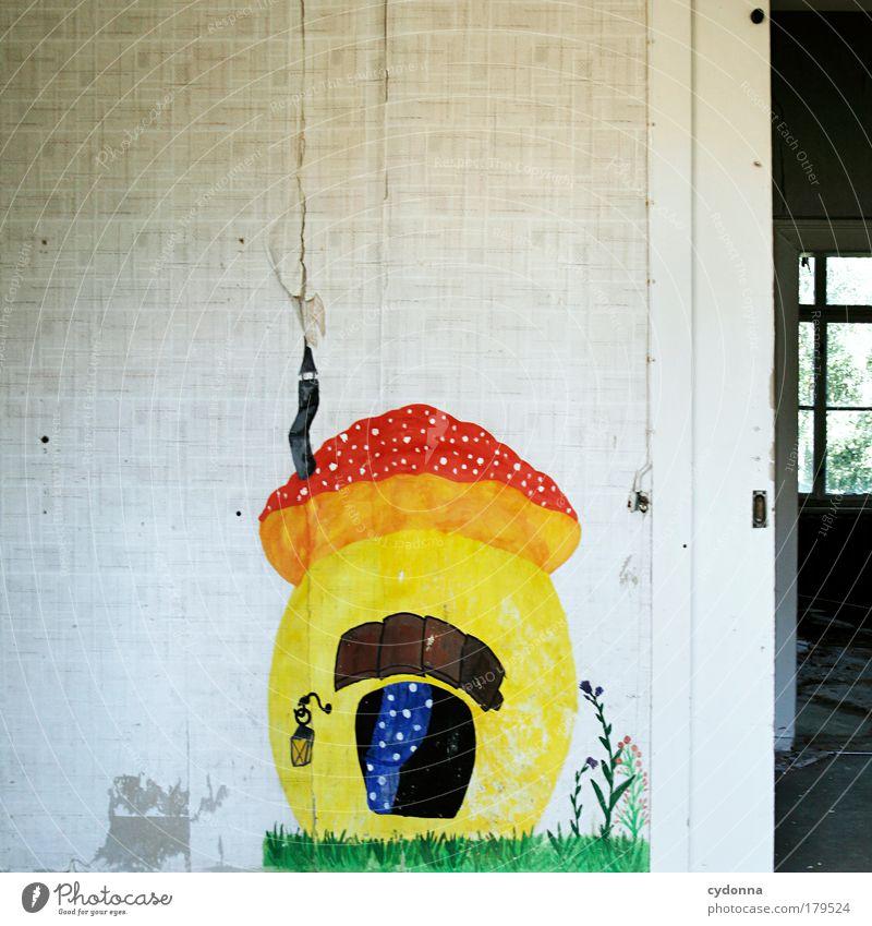 Traumhaus Leben Wand Freiheit Mauer Traurigkeit träumen Kindheit Raum Zeit Perspektive Zukunft Häusliches Leben Wandel & Veränderung einzigartig Bildung