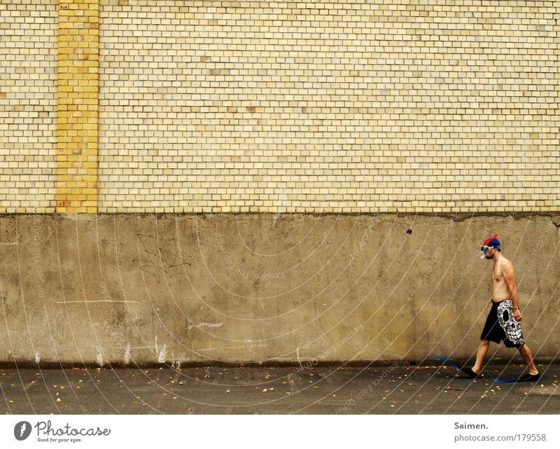 bereit für die polschmelze Mensch Mann Ferien & Urlaub & Reisen Freude Erwachsene Wand Bewegung Mauer gehen Angst nass maskulin Hoffnung bedrohlich Kreativität