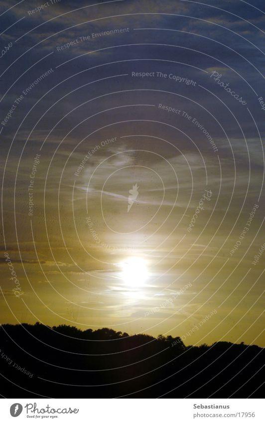 Good bye Sommer Himmel Baum Wolken Herbst Horizont